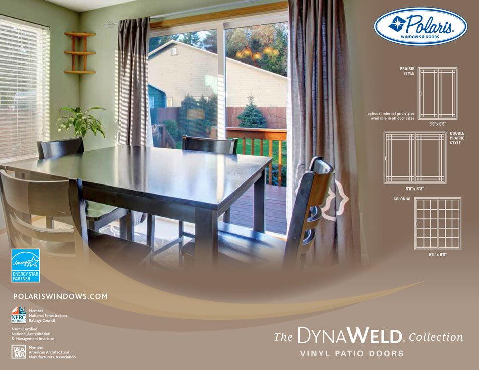 Polaris Dynalweld patio doors brochure page 1