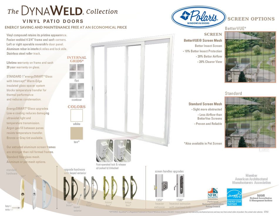 Polaris Dynalweld patio doors brochure page 2
