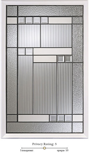 harlow entry door glass lite option