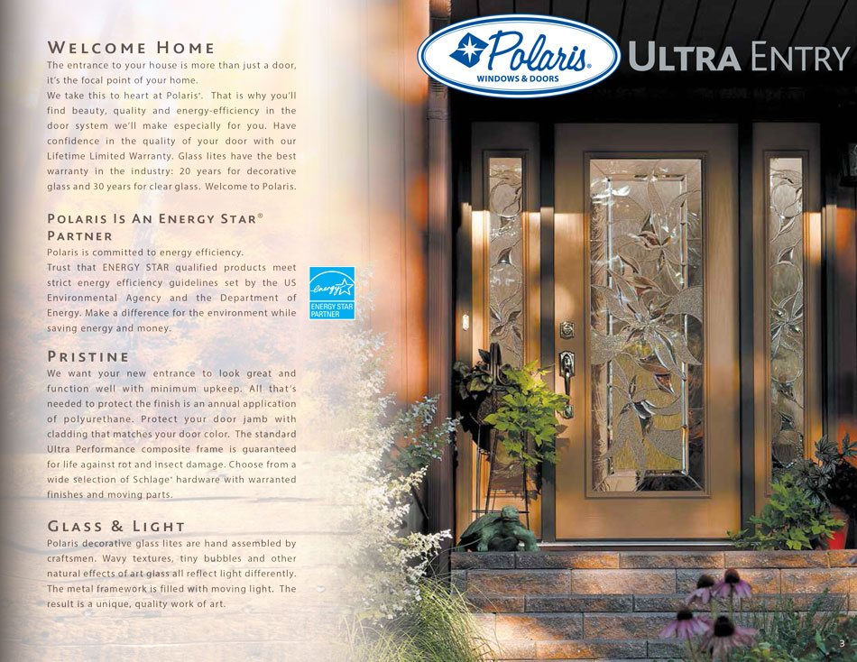 Polaris ultraweld entry doors catalog page 3