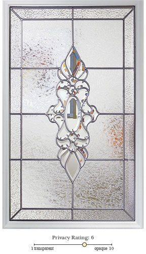 Heirlooms entry door glass lite option