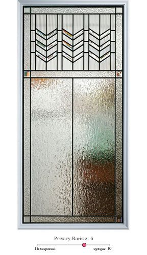 Prairie Bevel entry door glass lite option